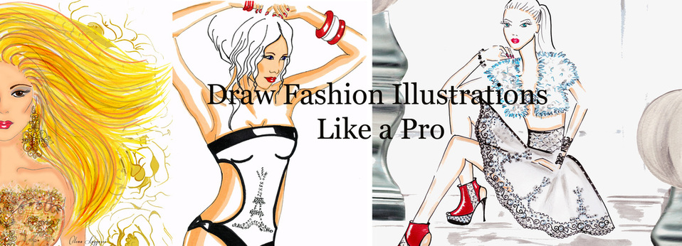 Olena Luggassi, Fashion illustration drawing course. Learn to draw fashion illustrations. Fashion design courses online. Fashion design school