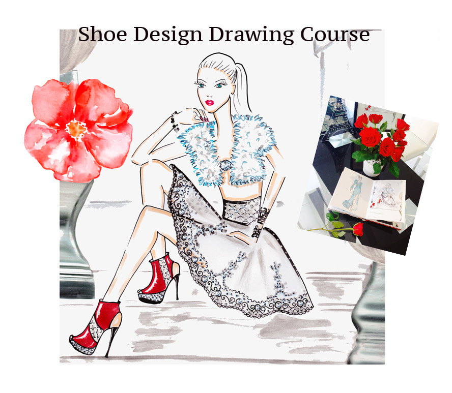 Shoe design course, shoe design drawing course, learn to design shoes