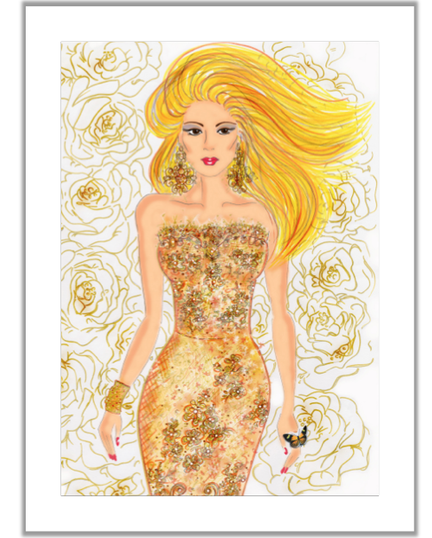 Fashion illustration, Olena Luggassi Fashion prints