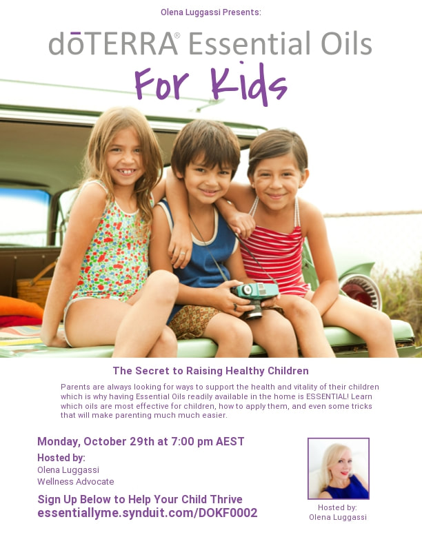 doTERRA essential oils for kids class